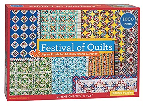 Image for Festival of Quilts Jigsaw Puzzle by Bonnie K. Hunter: 1000 Pieces, Dimensions 29.5 x 19